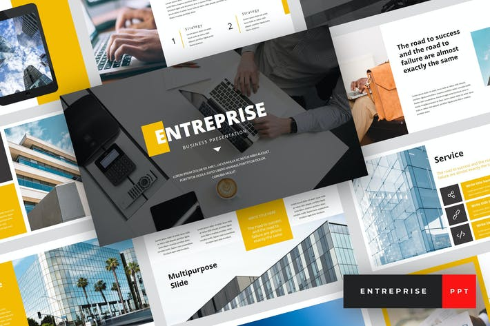 Thumbnail for Entreprise - Business PowerPoint Template