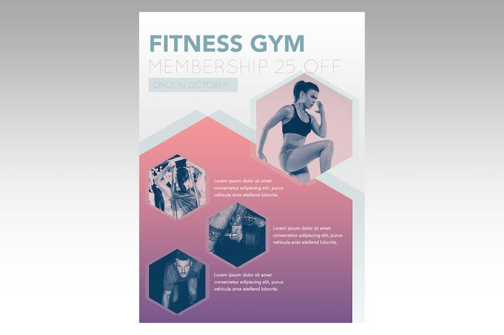 Thumbnail for Gym Membership Flyer Poster