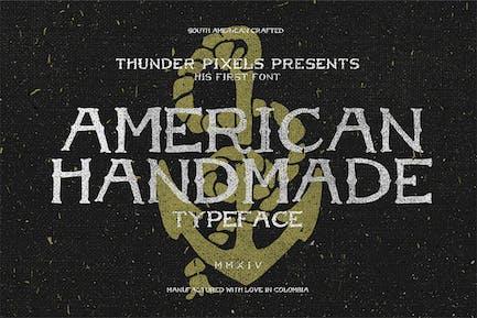 Tipo de letra americano hecho a mano
