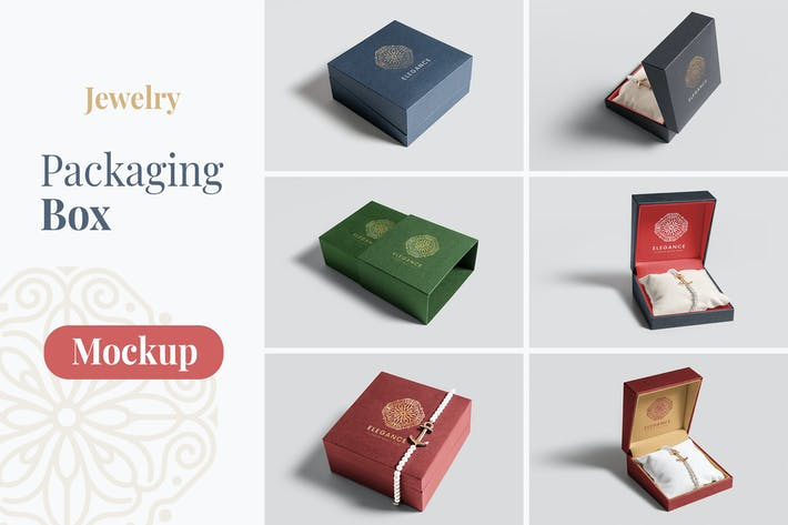 Thumbnail for Jewelry Packaging Box Mockups