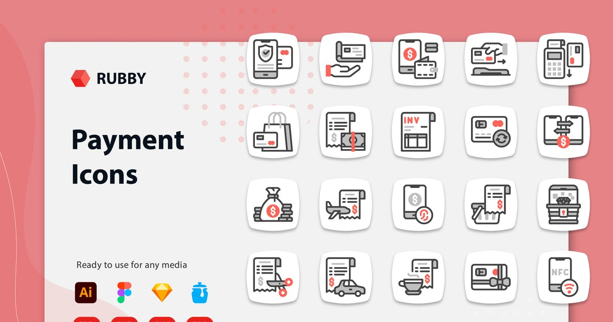 Download Rubby - Payment Icons by kerismaker
