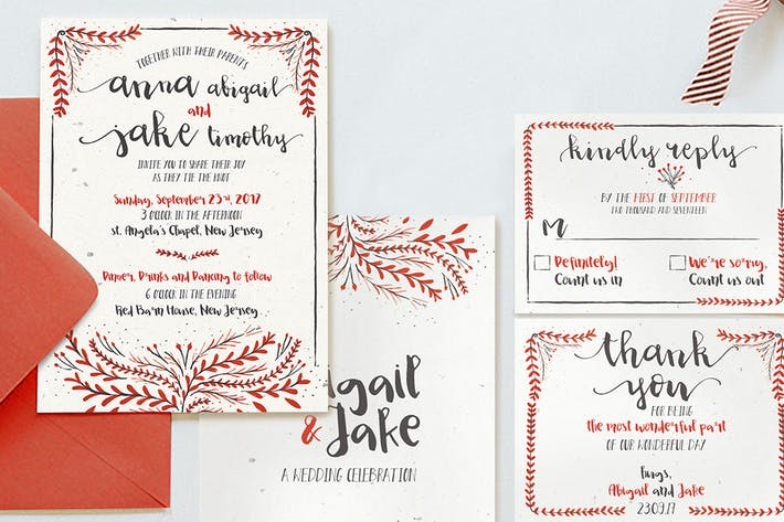 Thumbnail for Watercolor Floral Invitation