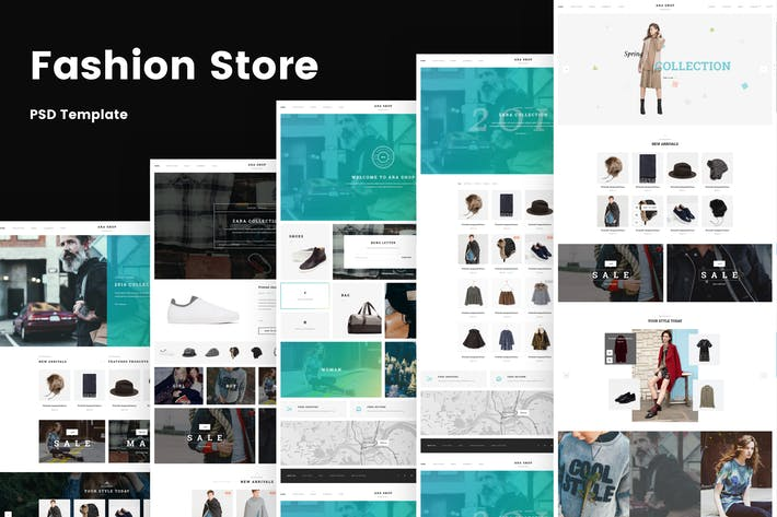 Thumbnail for Ara - Магазин моды Многоцелевой PSD Шаблон
