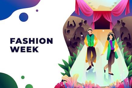 Semana de la Moda - Ilustración Vector