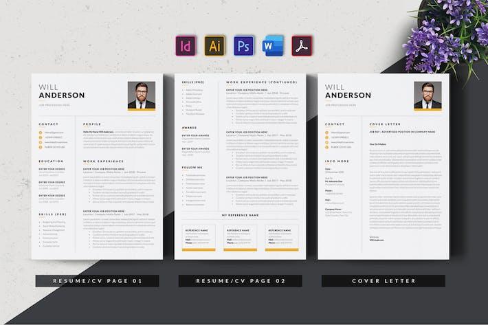 Thumbnail for Clean & Minimal Resume/CV AN v2