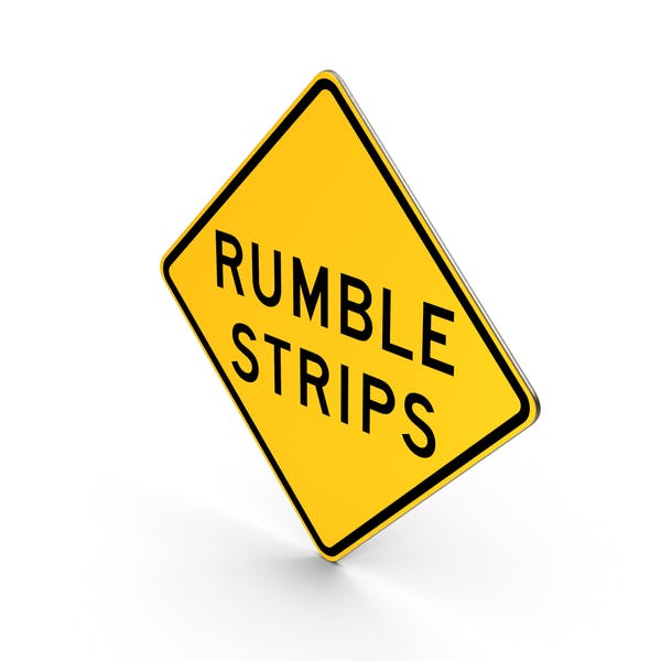 Rumble Strips New York State Road Sign