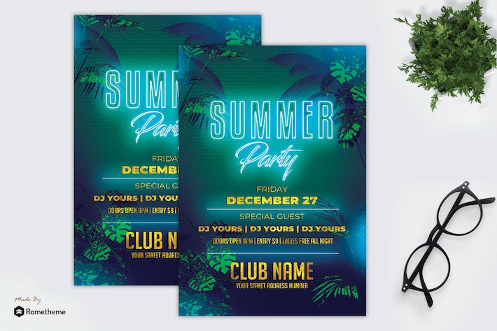 Thumbnail for Tropical Summer Party - Flyer MR