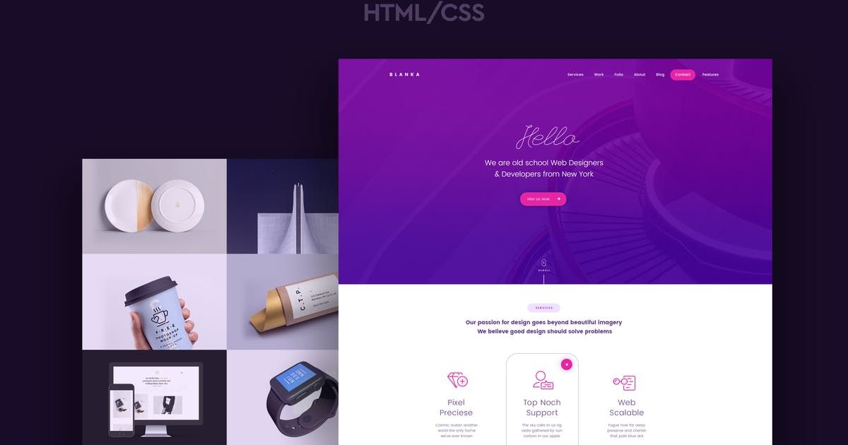 Download Blanka - One Page HTML Template by CocoBasic