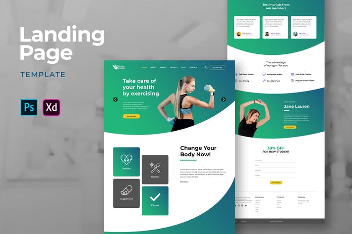 Thumbnail for Sport And Fitness Landing Pages