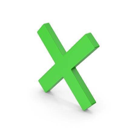 Symbol X Mark Grün