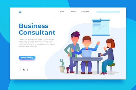 Business Consultant - Landing Page