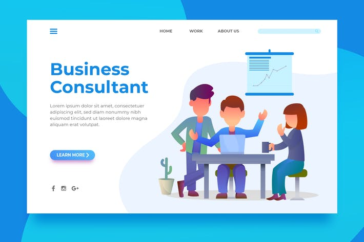 Thumbnail for Business Consultant - Landing Page