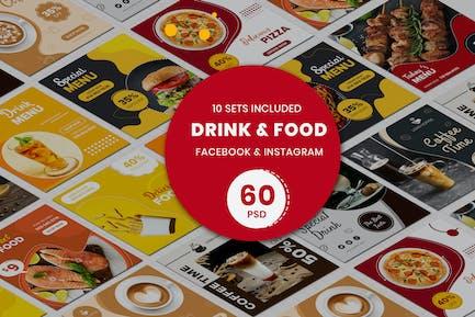 Modèles de bannière boissons et aliments