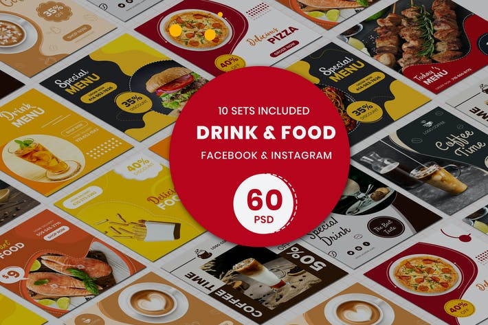 Thumbnail for Drink & Food Banner Templates