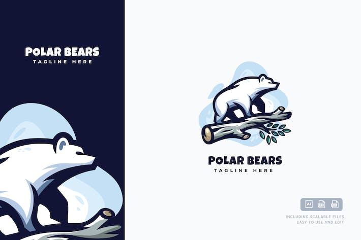 Thumbnail for Polar Bears Logo Template