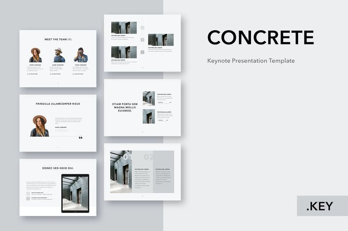 Thumbnail for Concrete Keynote Template
