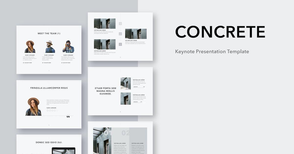 Download Concrete Keynote Template by Jumsoft