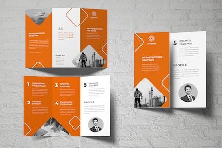 Oil Company Trifold Brochure