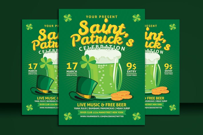 Thumbnail for Saint Patrick Celebration Flyer