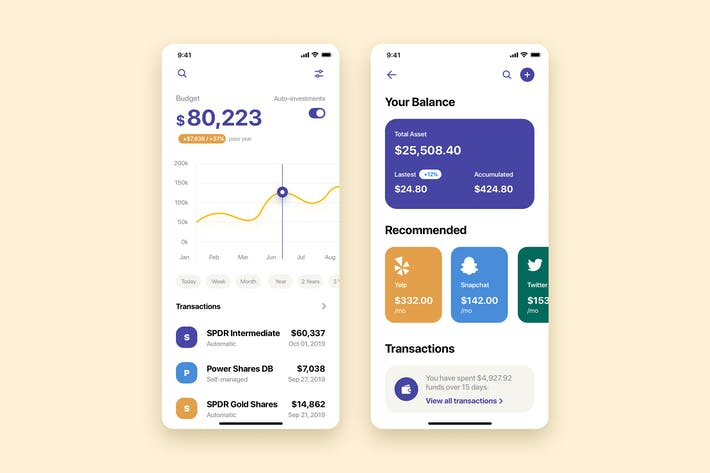 Thumbnail for My Wallet Mobile App UI Kit Template