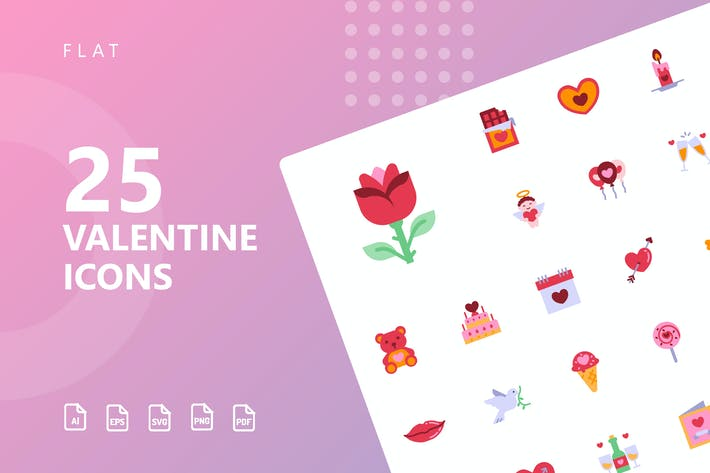 Thumbnail for Valentine Flat Icons
