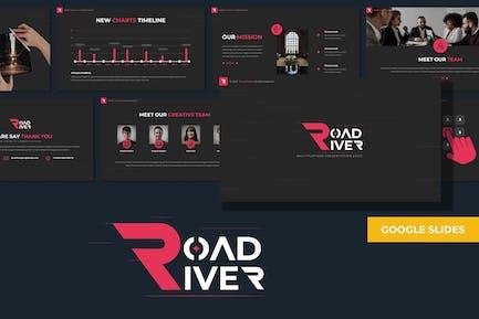 Road River - Многоцелевой Шаблон Google слайдов