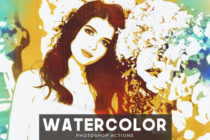 Thumbnail for Watercolor Photoshop Actions