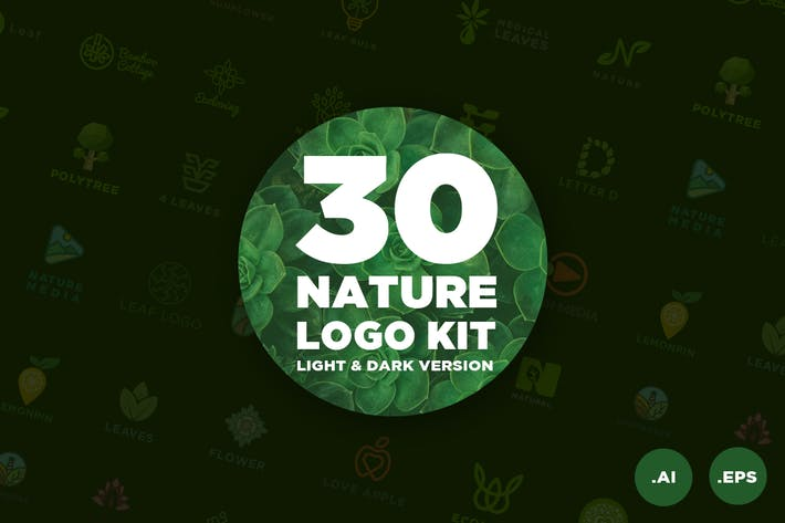 Thumbnail for 30 Nature Logo Kit
