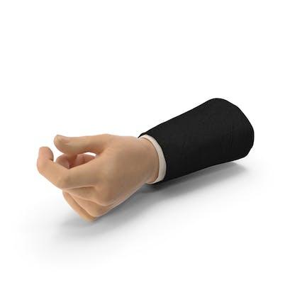 Suit Hand Pulgar Objeto Hold Pose