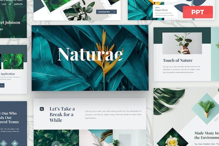 Naturae - Plantilla de presentación Powerpoint