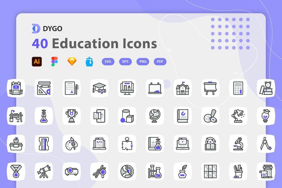 Dygo - Education Icons