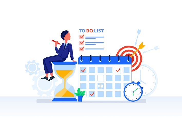 Thumbnail for Time Management concept Vector Illustration