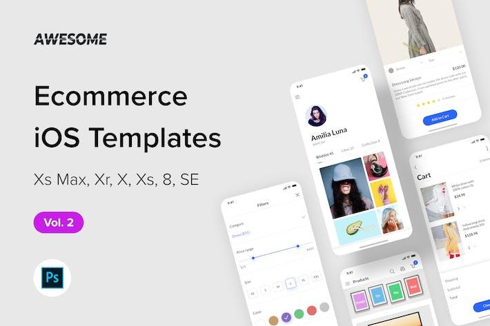 Thumbnail for Awesome iOS UI Kit - Ecommerce Vol. 2 (Photoshop)