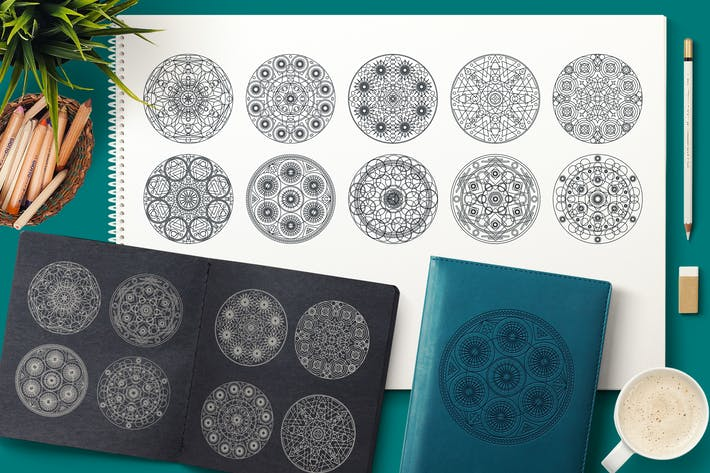 Cover Image For Sacred Geometric Mandalas Collection