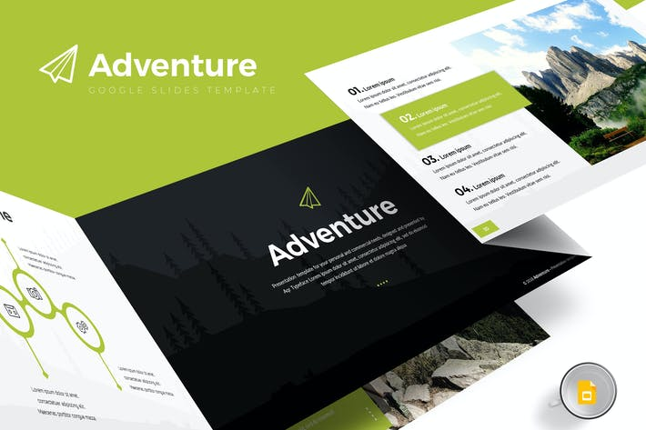 Thumbnail for Adventure - Google Slides Template