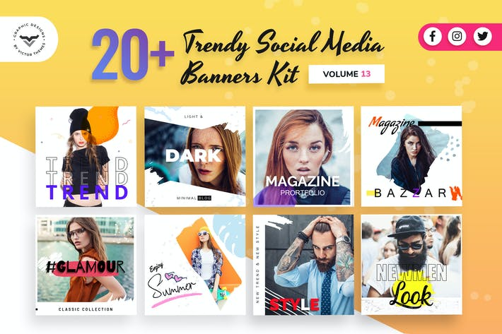Thumbnail for Social Media Banners Kit Volume XIII