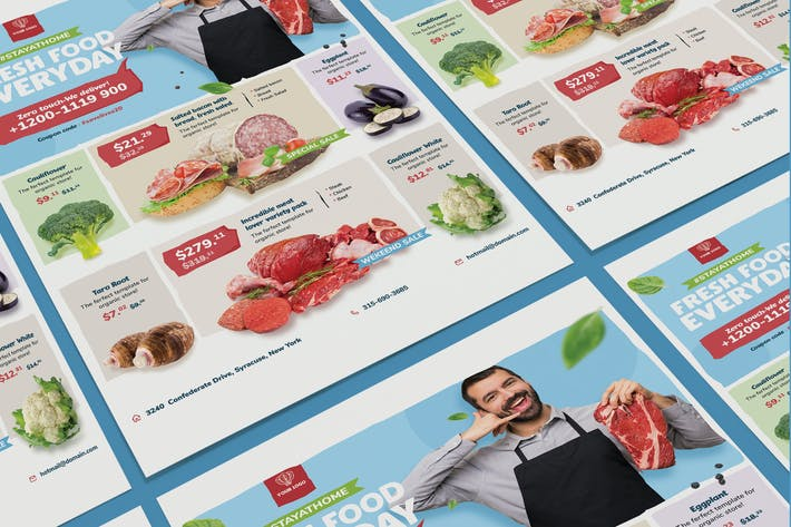 Thumbnail for Fresh food supermarket poster