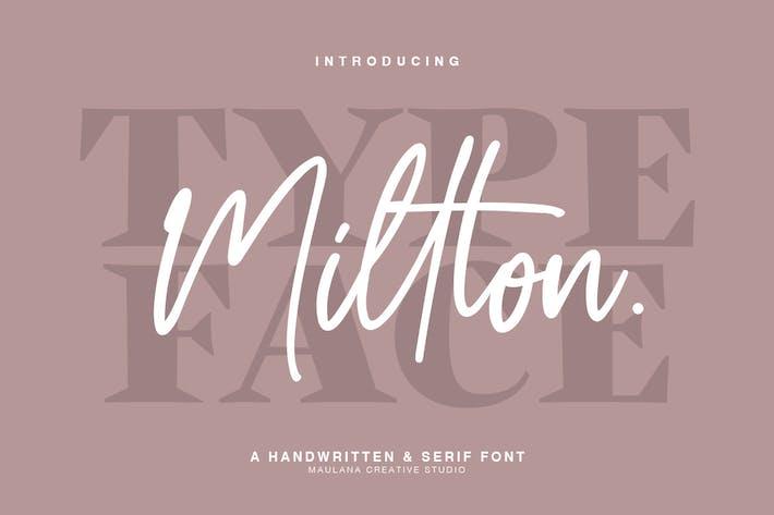 Thumbnail for Millton - Font Duo