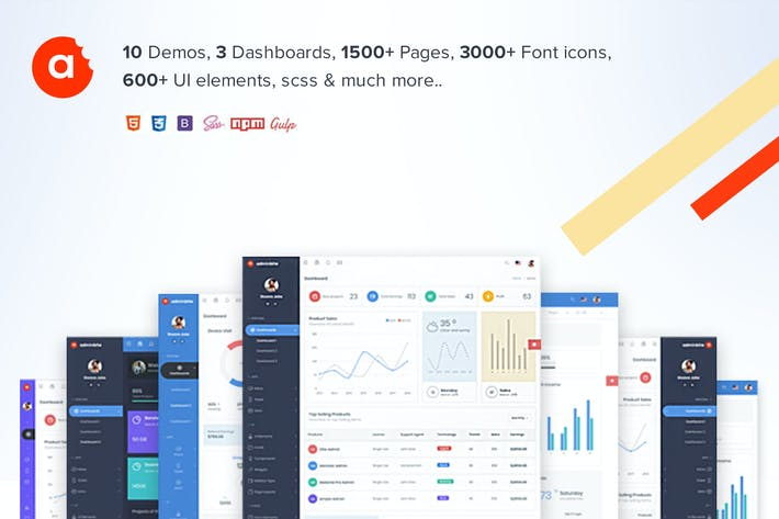 Thumbnail for AdminBite Powerful Bootstrap 4 Admin Template