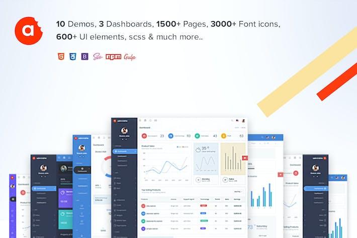 Thumbnail for Modèle AdminBite puissant Bootstrap 4 Admin