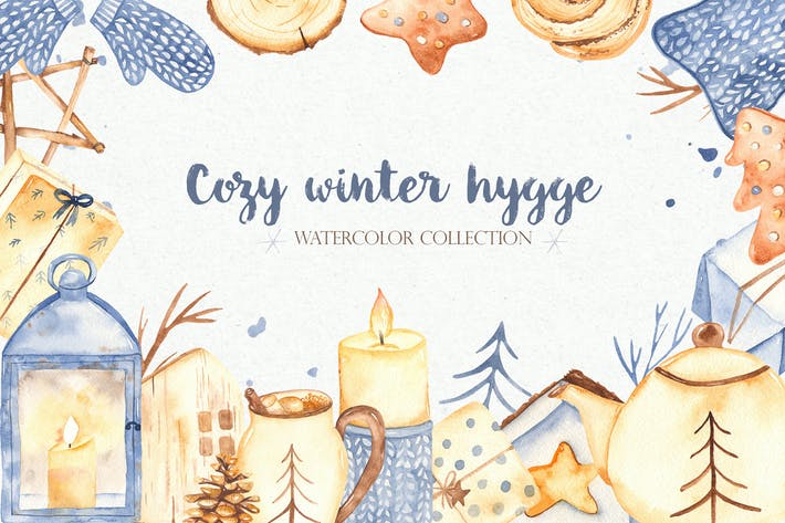 Thumbnail for Watercolor Cozy winter Hygge