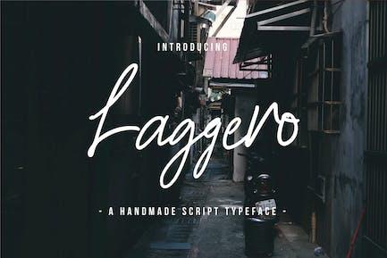 Laggero - A Handmade Script Typeface