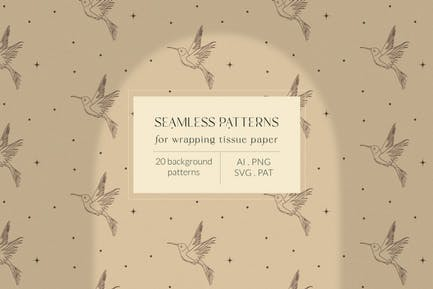 Bohemian Modern Patterns. Wrapping Tissue Paper.
