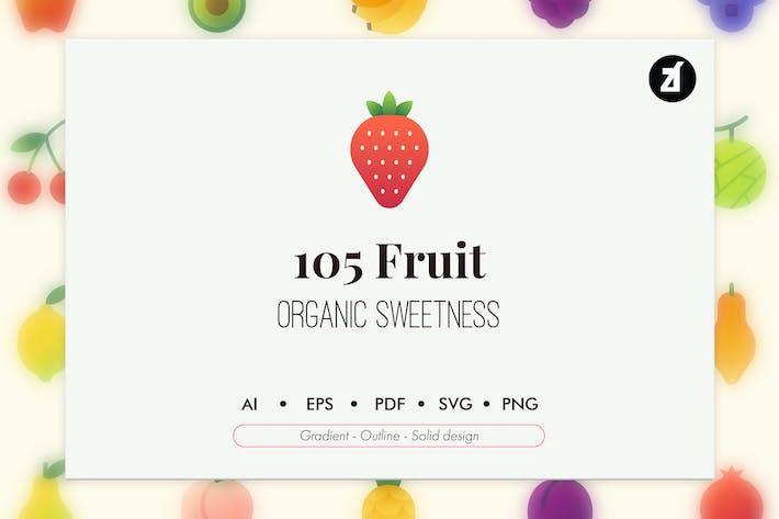 Thumbnail for 105 Obst-Elemente-Symbolpaket