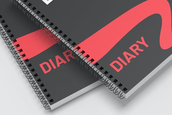 Thumbnail for Diary Notebook - Mockup