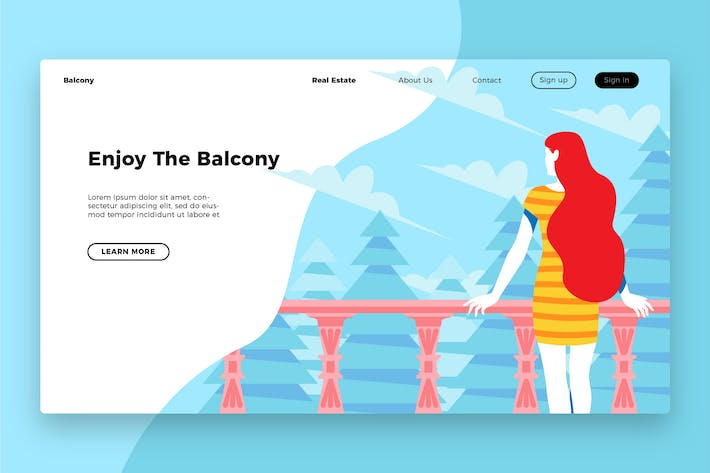 Cover Image For Enjoy in Balcony Banner & Landing Page