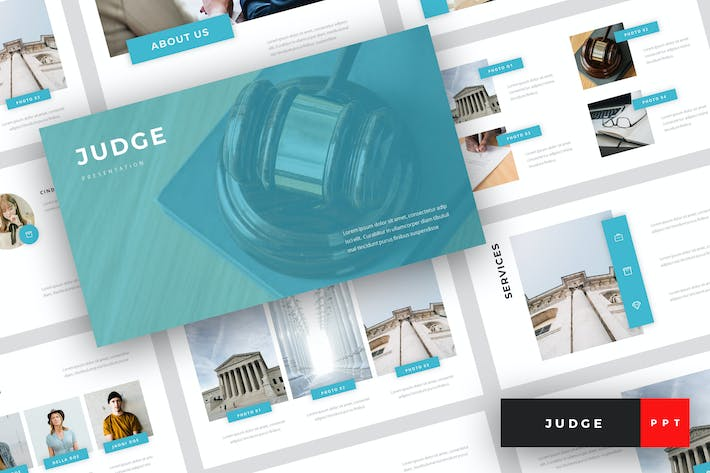 Thumbnail for Judge - Law PowerPoint Template