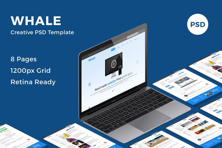 Thumbnail for Whale - Creative PSD Template