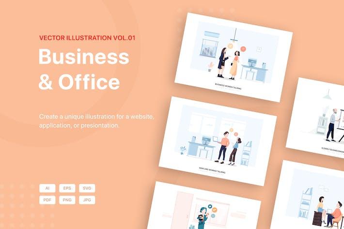 Thumbnail for Business Illustration Pack (Vol 01)