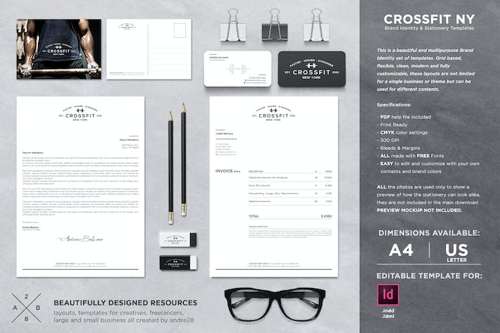 Thumbnail for Crossfit Identity & Invoice Template